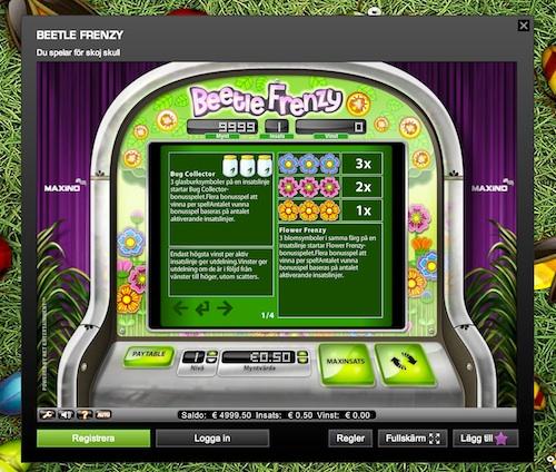 Beetle Frenzy Slots - Spela Beetle Frenzy Slots Online Nu